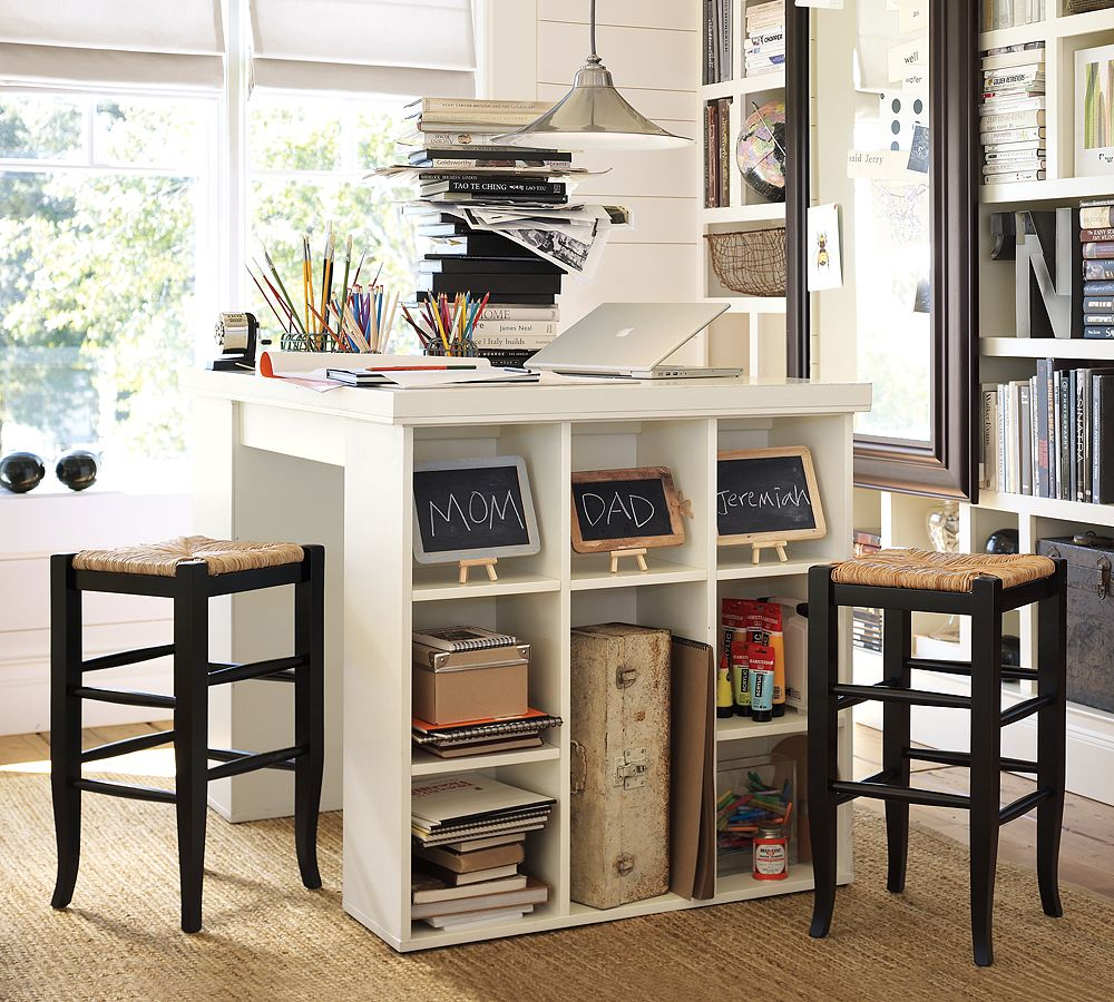 Home Office Craft Table Pottery Barn