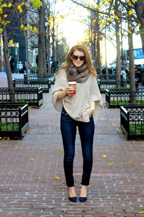 OUTFIT {HOW TO WEAR A PONCHO}