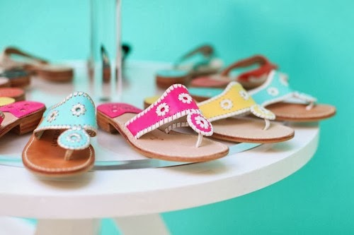 jack rogers spring 2014 navajo sandals hot pink turquoise