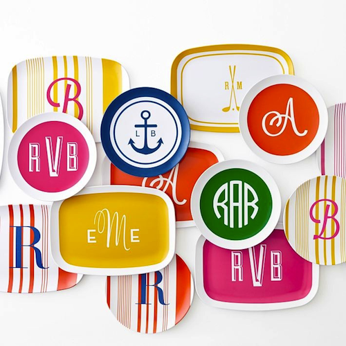 Pick up the anchor platter ($44) for a nautical hostess gift or a set of six monogrammed plates ($34 ...  sc 1 st  Design Darling : monogrammed melamine plates - pezcame.com
