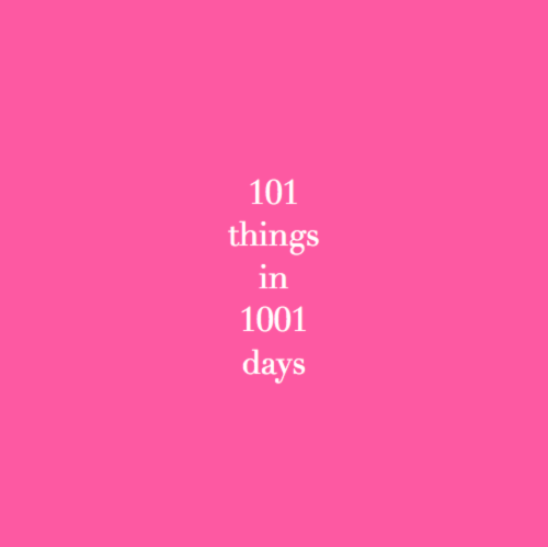 100 Things To Do In 1001 Days