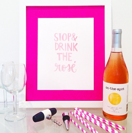 stop and drink the rosé print