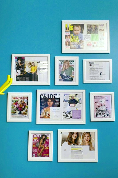 the skimm press wall
