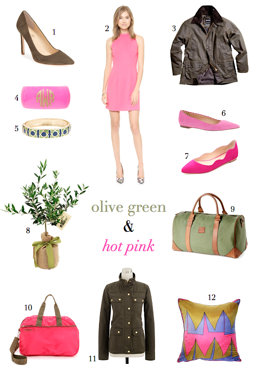 How To Wear Olive Green And Hot Pink
