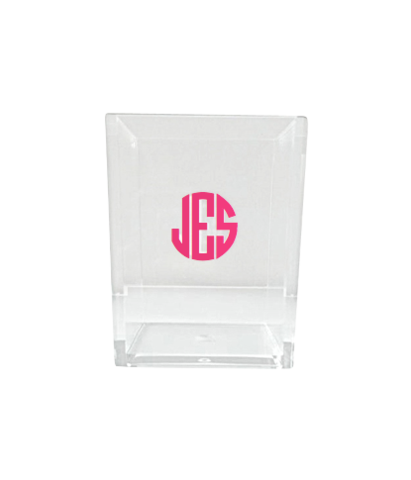 monogrammed pencil cup