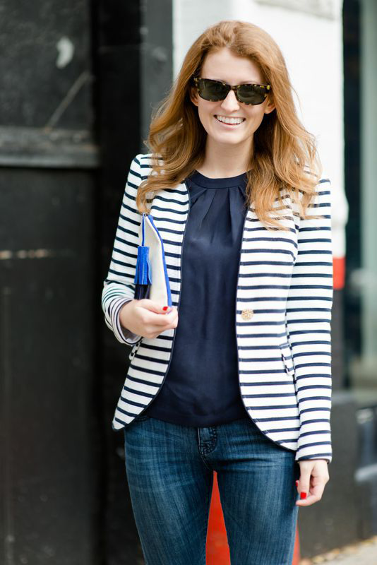 OUTFIT ELIZABETH MCKAY STRIPED BLAZER - Design Darling