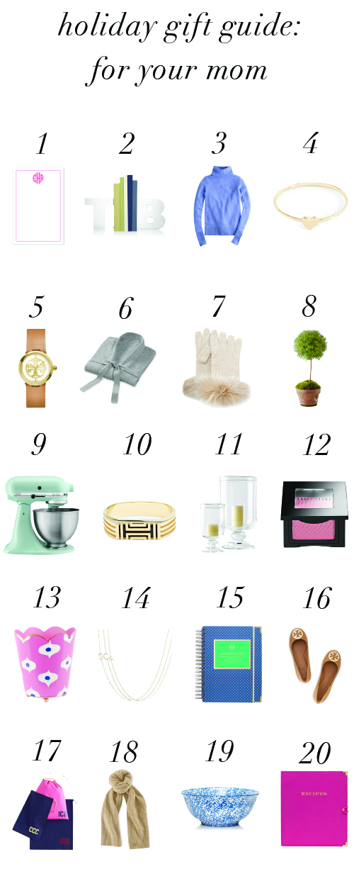 holiday gift guide for your mom design darling