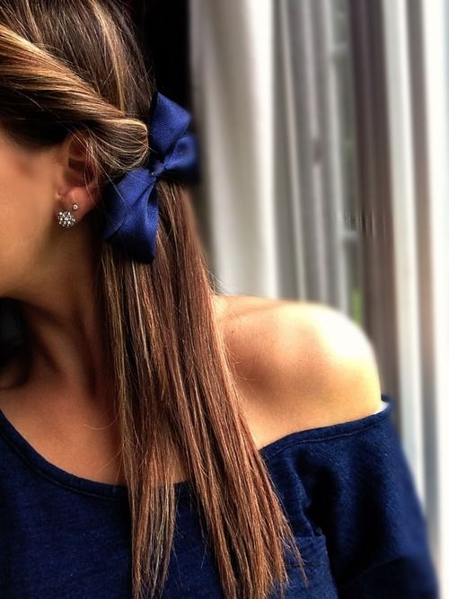 hair bow twist