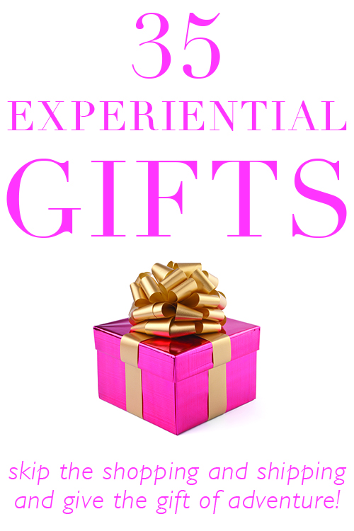 35 experiential gifts activities and events instead of traditional presents!
