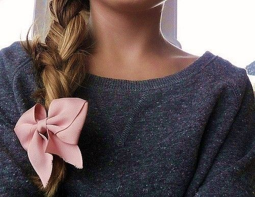hair bow braid