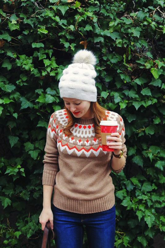 OUTFIT: FAIR ISLE SWEATER - Design Darling