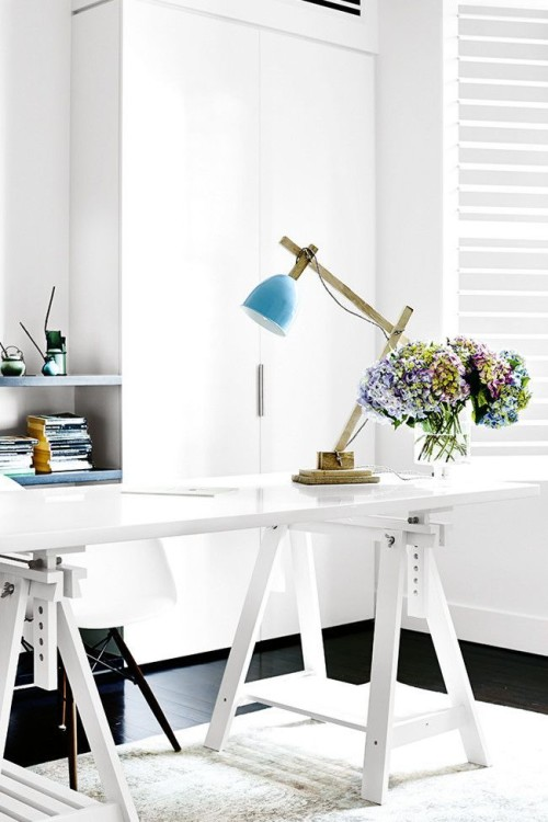 turquoise desk lamp