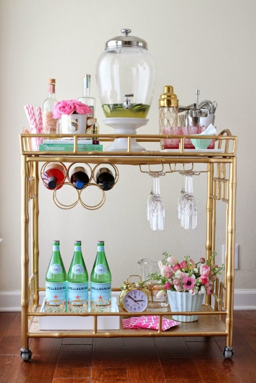 how to style a bar cart