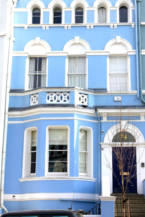 notting hill blue townhouse