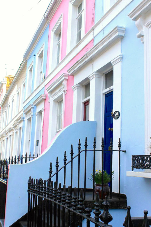 notting hill bright homes pink townhouse