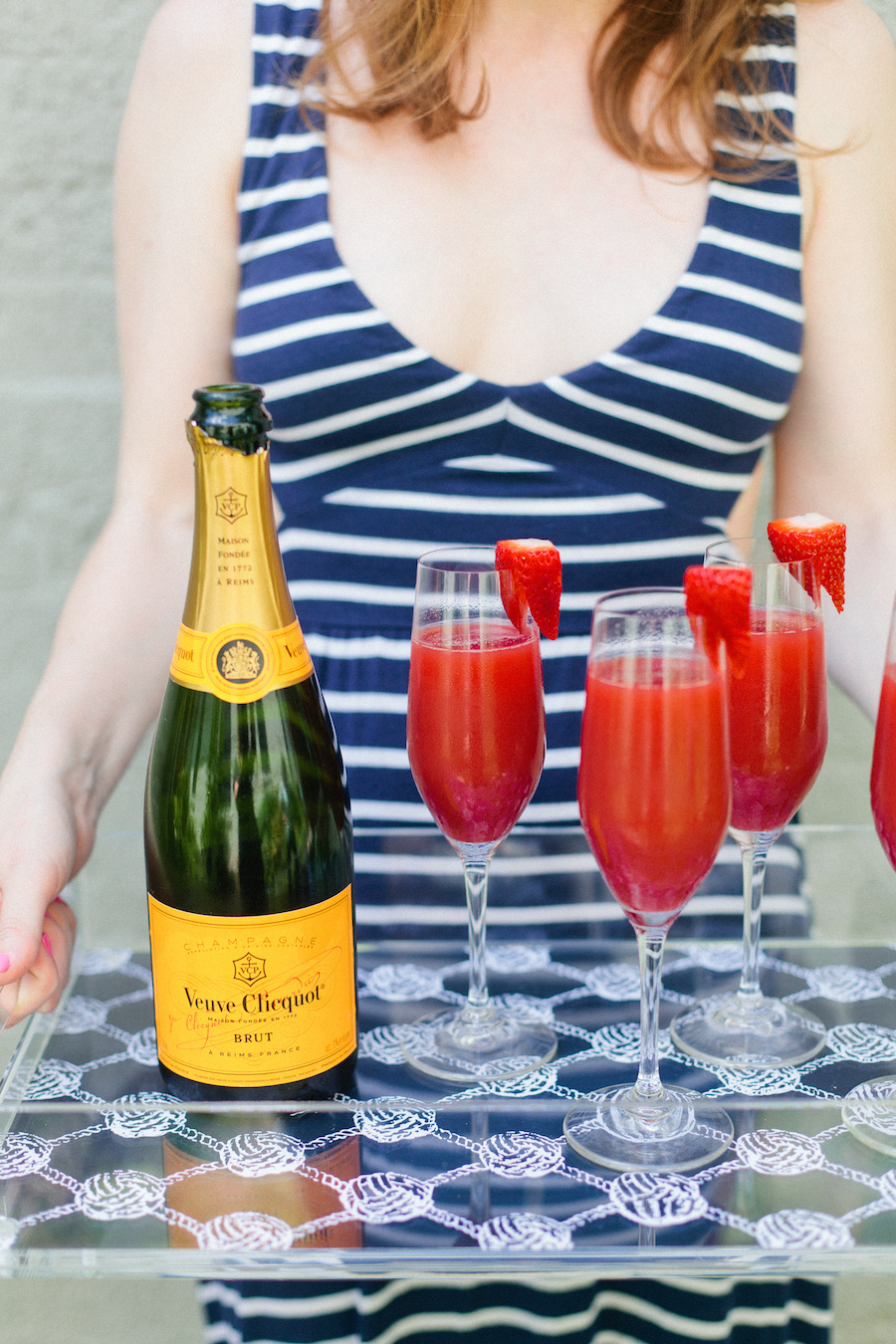 Fourth Of July Strawberry Champagne