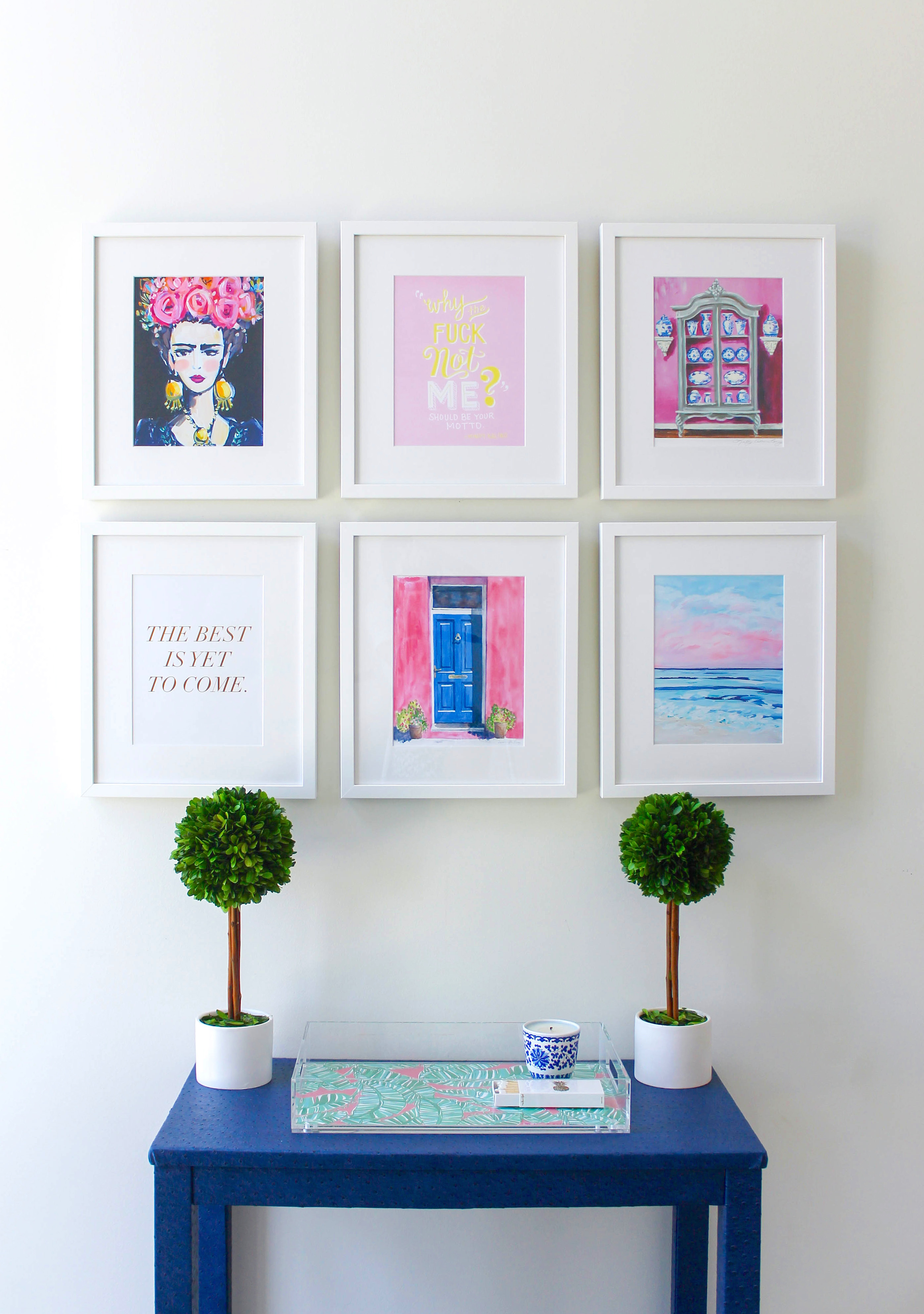Office Gallery Wall With Framebridge Design Darling
