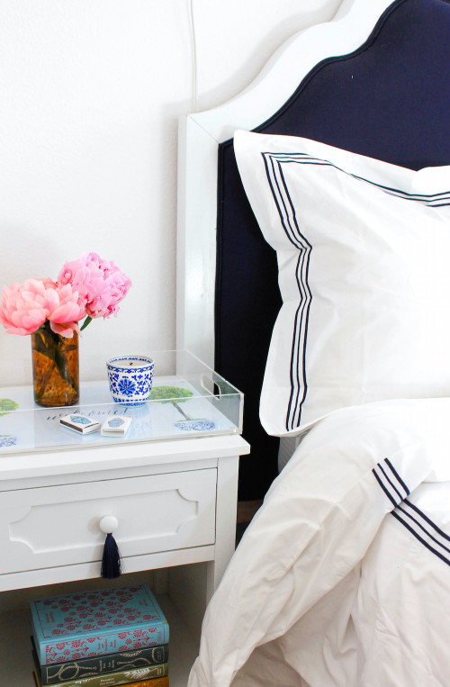 bedside table styling tassel drawer pulls