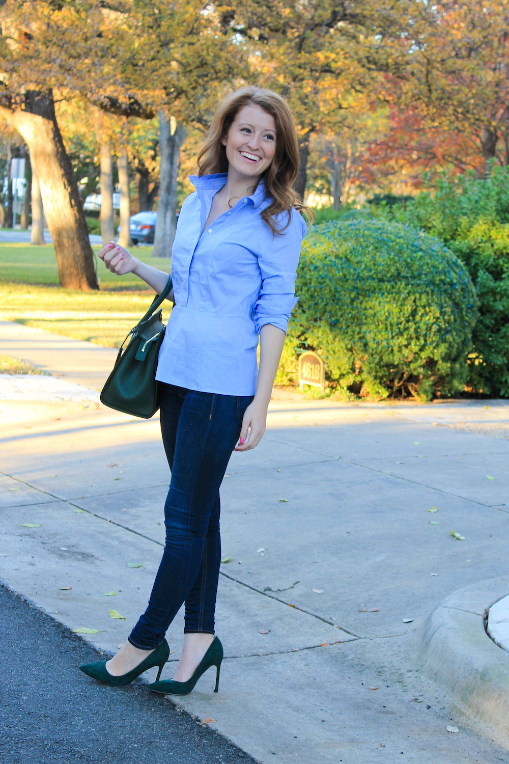 Outfit peplum shirt design darling for Skinny jeans with shirt