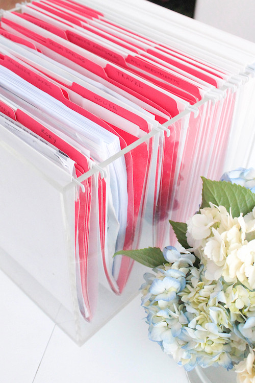 how to organize files at home