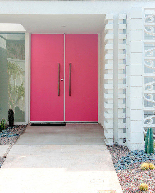 palm springs hot pink door