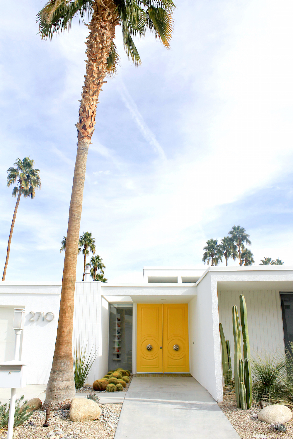 palm springs yellow door & THE DOORS OF PALM SPRINGS - Design Darling