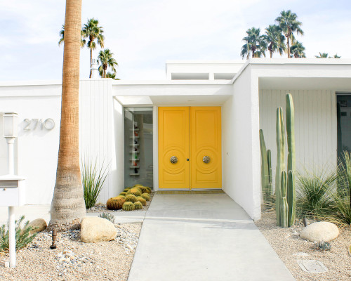 palm springs yellow double door