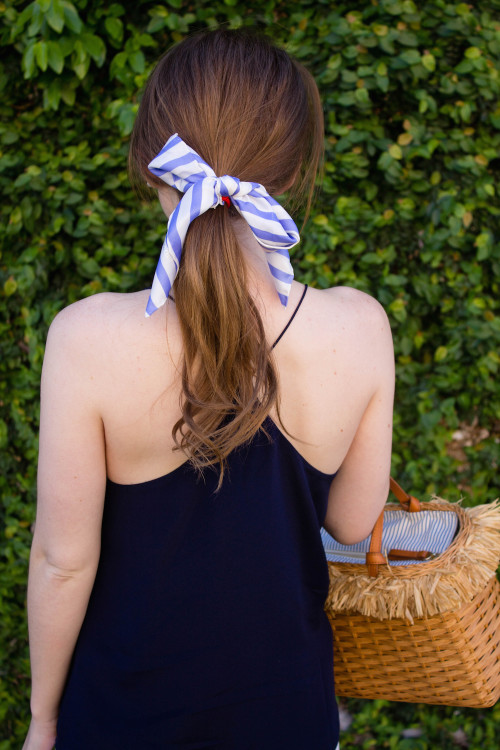 design darling silk scarf hair bow