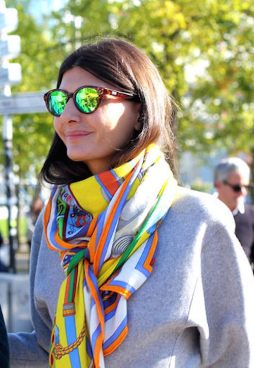 how to style a silk scarf 1