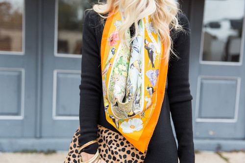 how to style a silk scarf 4