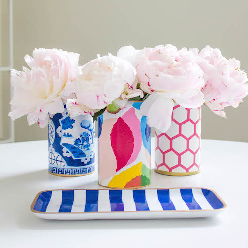design darling chinoiserie pen cup striped tray