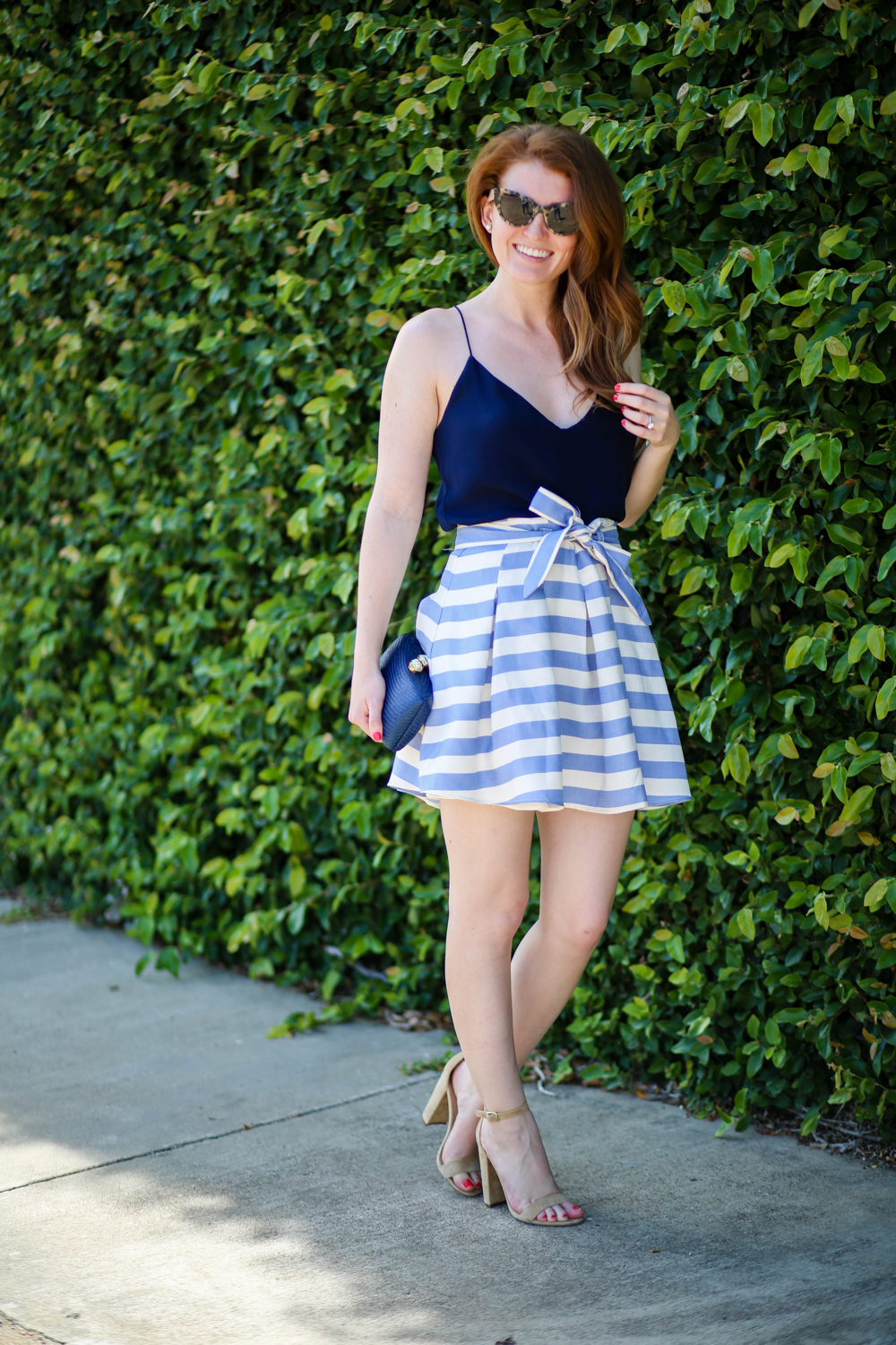 c5a6362ed1d OUTFIT  J.CREW CARRIE CAMI + STRIPED SKIRT