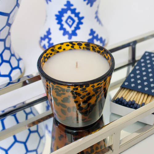 design darling mirrored tray tortoiseshell candle ahoy matches