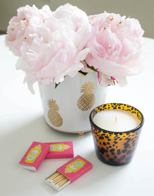 design darling pineapple cachepot worcester jar matches tortoiseshell candle