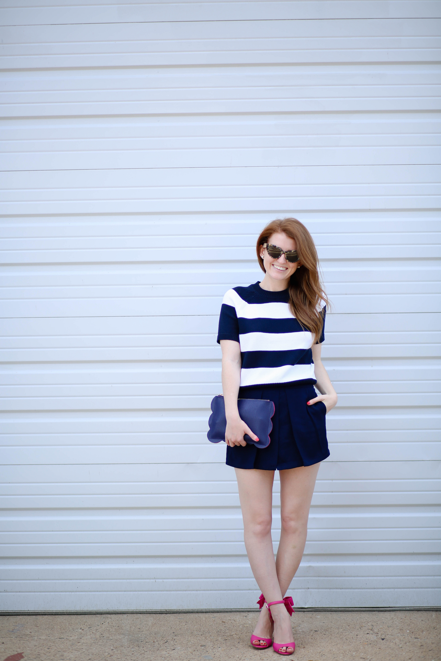 OUTFIT: SUMMER SWEATER   KATE SPADE BOW HEELS