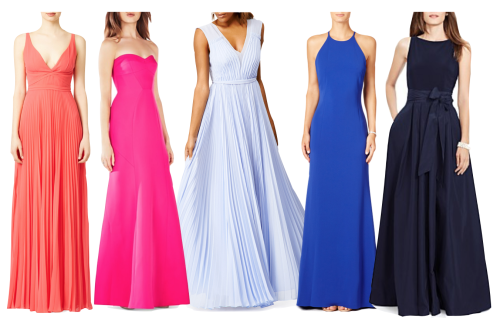 25 long wedding guest dresses for black tie and formal attire weddings.