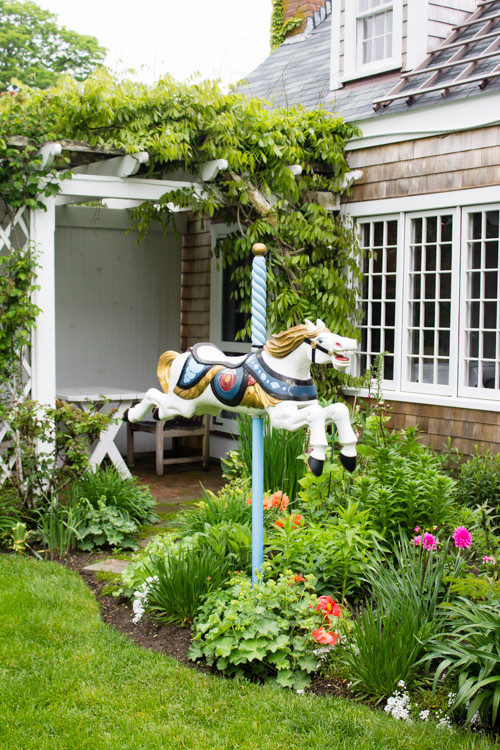 The carousel horse at The Chanticleer in 'Sconset on Nantucket
