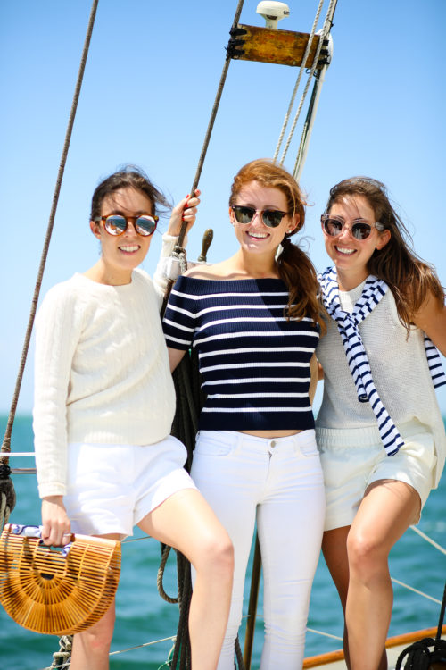 amy stone mackenzie horan and ali schilling on nantucket