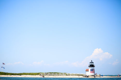 brant lighthouse from endeavor sailing on nantucket