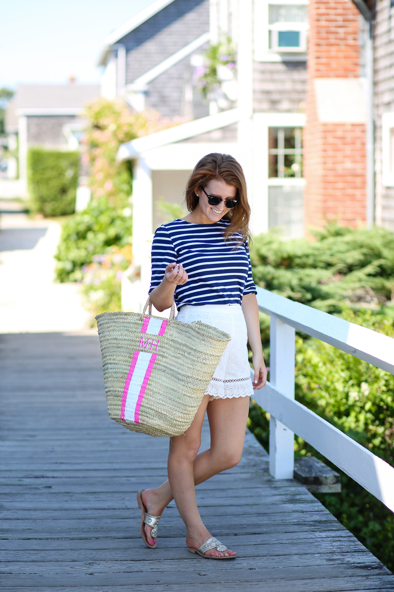 design darling monogrammed straw bag