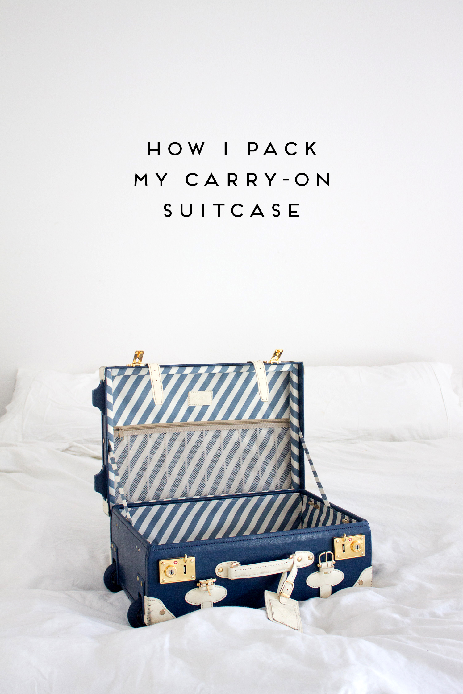 how i pack my carry-on suitcase