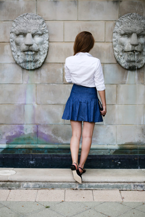 design darling denim skirt