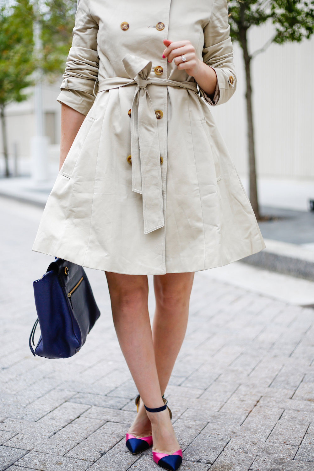 Fit And Flare Trench Coat Design Darling