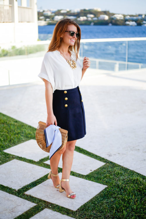 madewell-drapey-shirt-j-crew-sailor-skirt-cult-gaia-bag-and-loeffler-randall-emi-sandals
