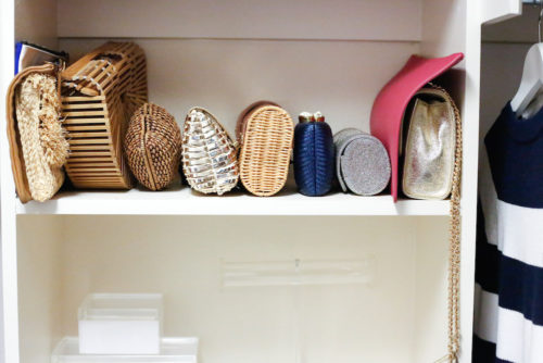 design darling how to store bags and clutches