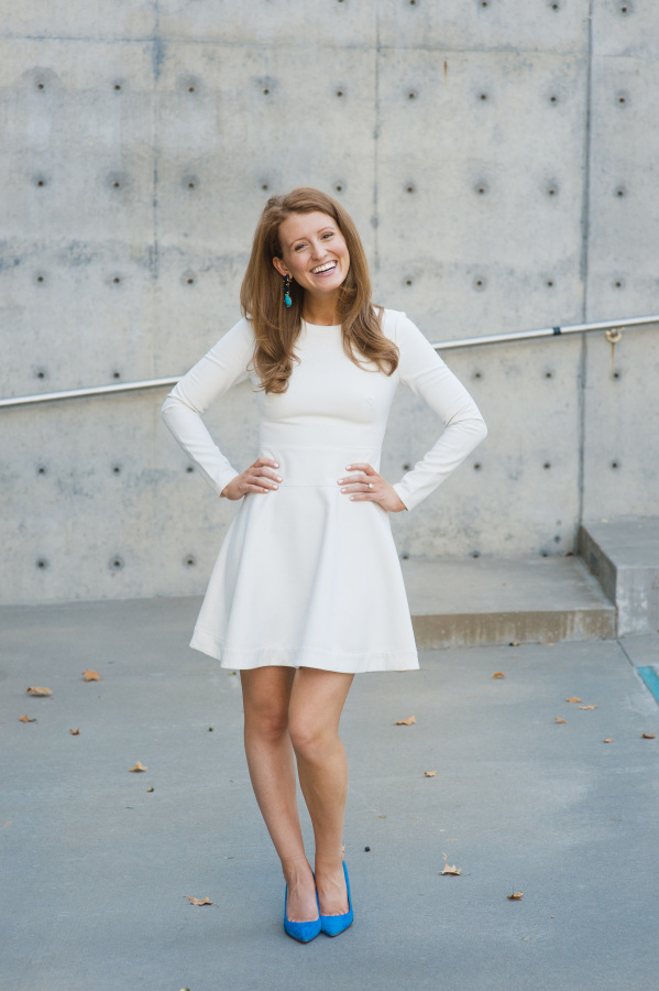 design darling long sleeve white dress for engagement party shoshanna rio dress