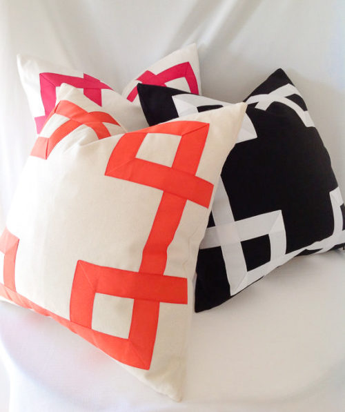 grosgrain ribbon fretwork pillow on etsy