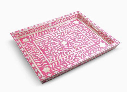 hot pink bone inlay tray