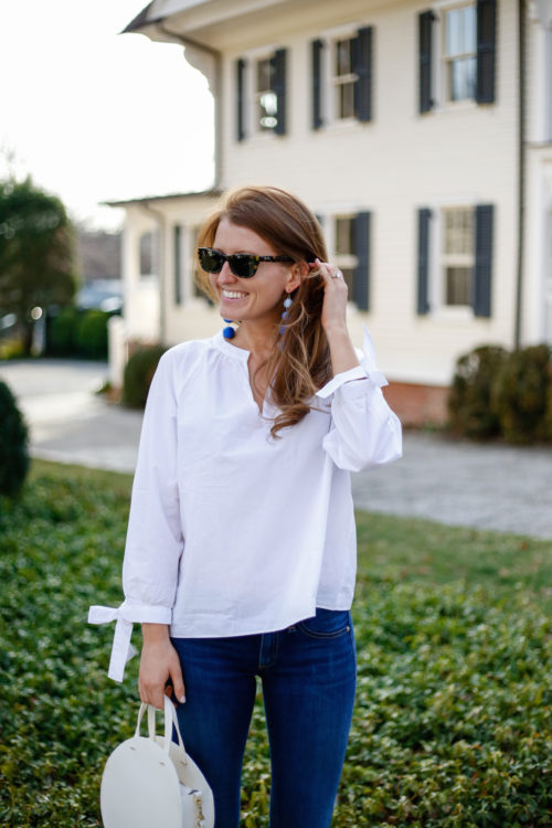 madewell tie sleeve blouse on design darling