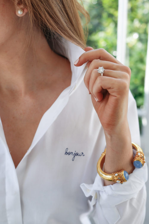 maison labiche embroidered shirt bonjour and julie vos cuff